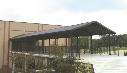 Metal Shelter and Walkway